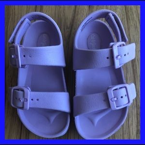 Cat &Jack lavender Sandals.Velcro adjust.Size 8.
